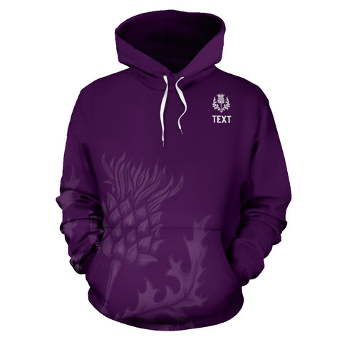 Image of Custom - Purple Thistle Pullover Hoodie | Clothing | Love Scotland