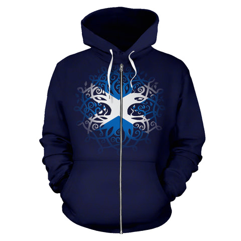Image of Scotland Celtic Tree Zip Hoodie | Men & Women | Clothing