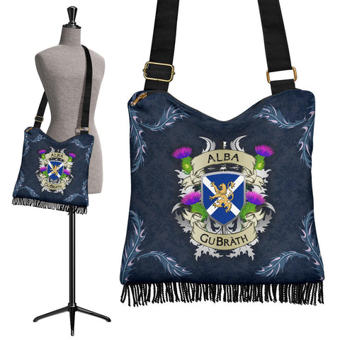 Scotland Crossbody Boho Handbag - Scotland Forever Flag Lion Thistle