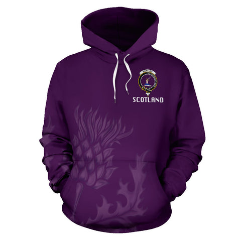 Barclay Crest Scottish Thistle Scotland Hoodie Purple | Clothing | 1stscotland
