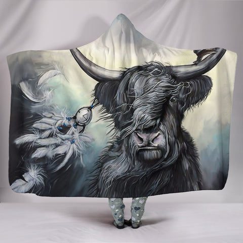 Scottish Highland Cow - Hooded Blanket | Special Custom Design