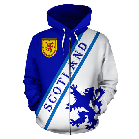 Scottish Lion Rampant Shield Zipper Hoodie | Women & Men | Alba Clothing