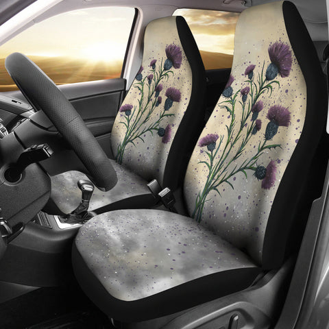 Scotland Car Seat Covers - Scottish Thistle Vintage | Love Scotland