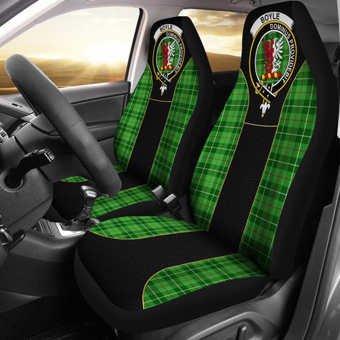 Boyle Tartan Car Seat Cover Clan Badge - Special Version
