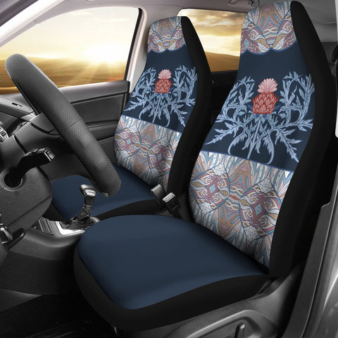 Image of Scotland Car Seat Covers - Scottish Thistle Purple Edition | Hot Sale