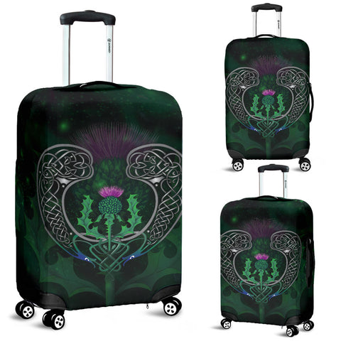Scotland Luggage Covers - Celtic Thistle Green | Love Scotland