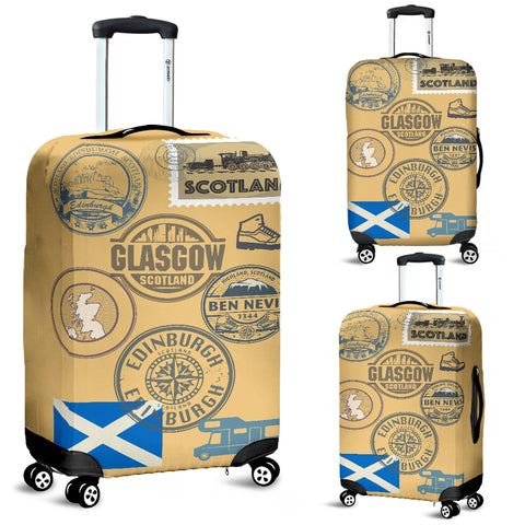 Travel Stamp 01 - Scotland Luggage Cover | Special Custom Design