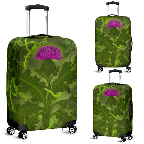 Scotland Luggage Covers - Thistle Special Green | Love Scotland
