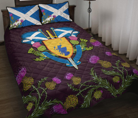 Scotland Quilt Bed Set - Map Flag Thistle | Love Scotland