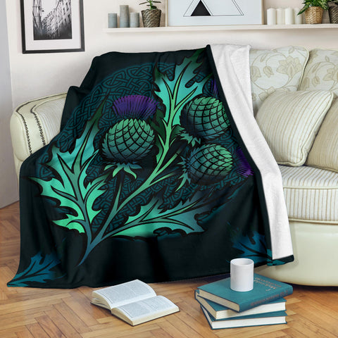 Image of Beautiful Thistle and Celtic - Scotland Premium Blanket | Love Scotland