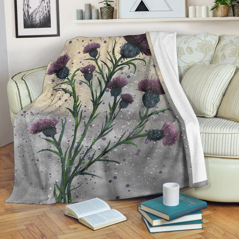 Image of Scotland Premium Blanket  - Scottish Thistle Vintage A24