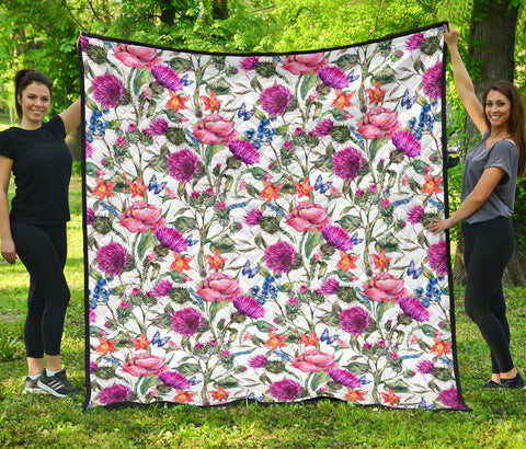 Image of Scottish Thistle 18th Pattern Premium Quilt