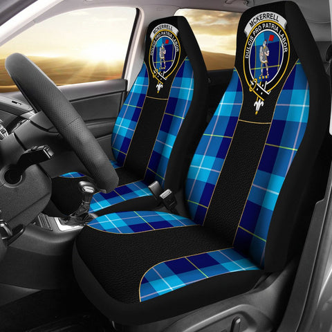 Mckerrell Tartan Car Seat Cover Clan Badge - Special Version