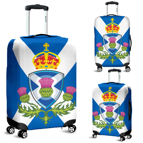 Scotland Thistle Flag - Luggage Cover | Special Custom Design