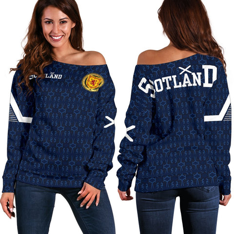 1stScotland Home Women's Off Shoulder Sweater - 1991 Style A7