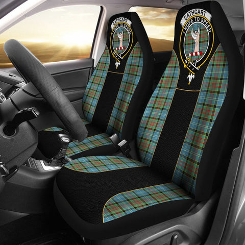 Cathcart Tartan Car Seat Cover Clan Badge - Special Version