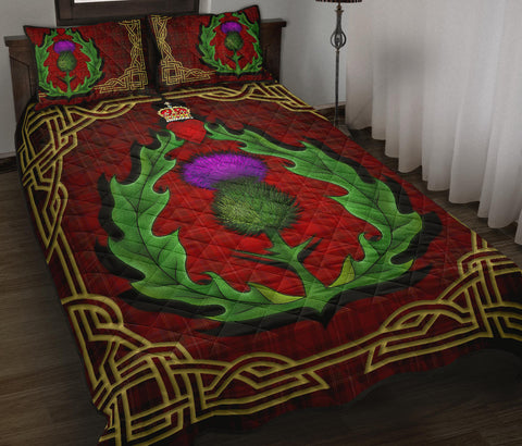 Image of Scotland Quilt Bed Set - Thistle Stewart Royal Modern Claddagh Ring A24