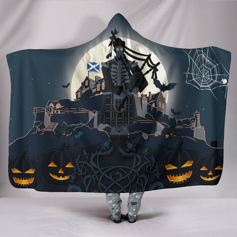 Scottish Piper Halloween Hooded Blanket | Special Custom Design