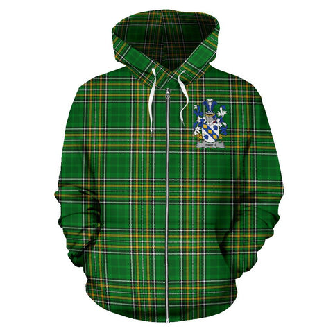Smith or Smyth Ireland Zip Hoodie Irish National Tartan | Clothing | Apparel | Over 1400 Crests