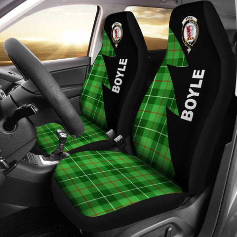 Boyle Clans Tartan Car Seat Covers - Flash Style