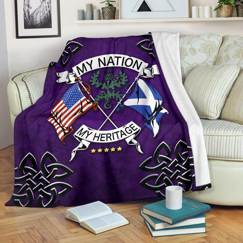 Scotland Premium Blanket - My Nation My Heritage Thistle | Love Scotland