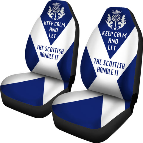 Image of Let The Scottish Handle Car Seat Cover | Men & Women | Decor