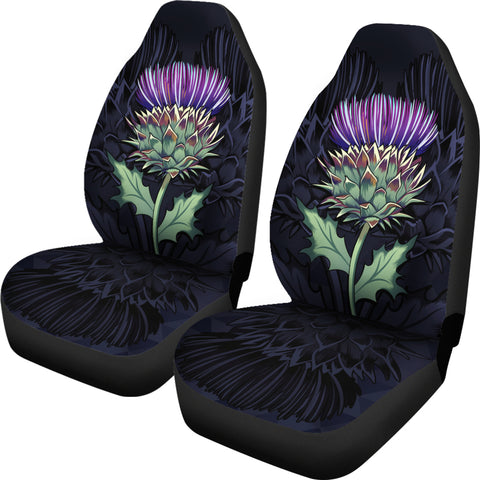 Purple Thistle - Scotland Car Seat Covers | Love Scotland