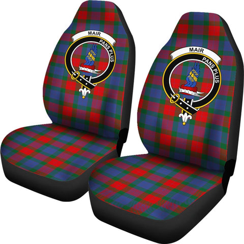 Mar Tartan Car Seat Covers - Clan Badge