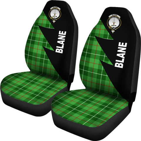 Tartan Car Seat Cover, Blane Clans Flash Style - Scottish Car Seat Cover A9