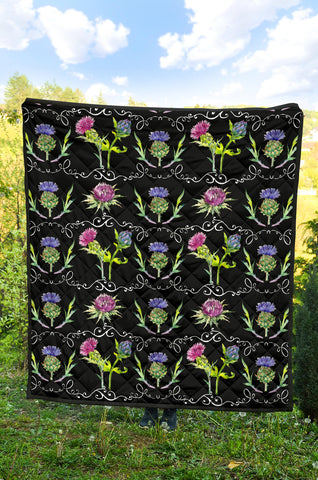 Scottish Thistle 13th Pattern Premium Quilt