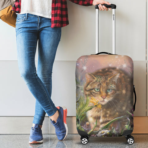 Scottish Wild Cat Luggage Cover | Love Scotland | Hot Sale