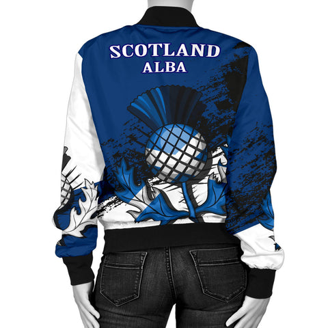 Abercrombie Crest Scottish Thistle Scotland Women's Bomber Jacket A7