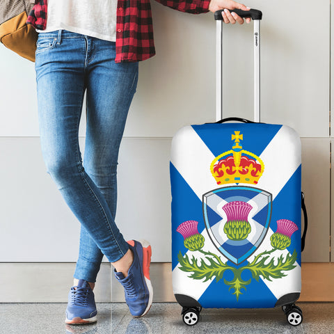 Image of Scotland Thistle Flag - Luggage Cover | Special Custom Design
