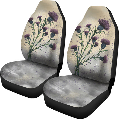 Scotland Car Seat Covers - Scottish Thistle Vintage A24