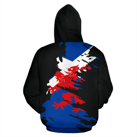 Image of Scotland Zipper Hoodie Painting | Women and Men | 1stscotland