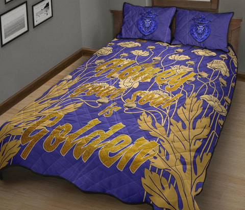 "1stScotland Quilt Bed Set - ""Honey Your Soul Is Golden"" & Luckenbooth A25"