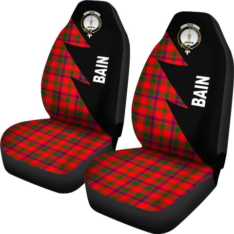 Tartan Car Seat Cover, Bain Clans Flash Style - Scottish Car Seat Cover A9