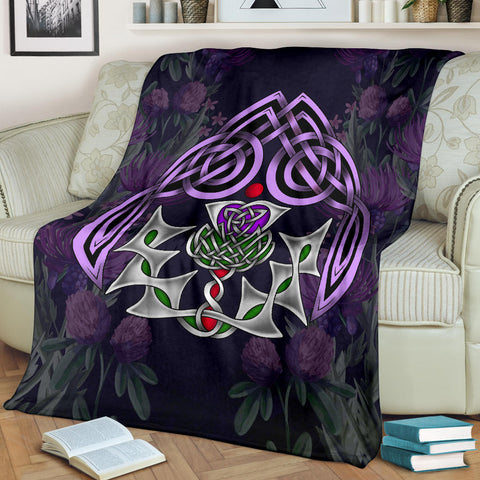Image of Scotland Premium Blanket - Thistle Celtic Special A24