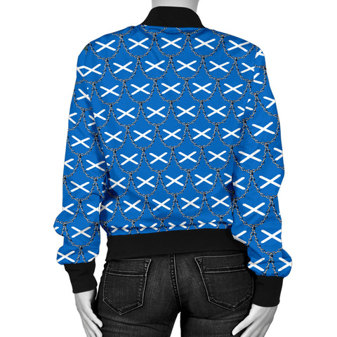 Scotland Flag And Chains Pattern Men's Bomber Jacket A21