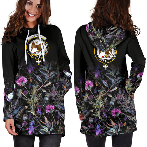 Agnew Crest Hoodie Dress Scottish Thistle | Over 300 Clans