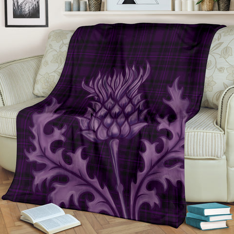 Love Scotland | Special Purple Thistle Premium Blanket