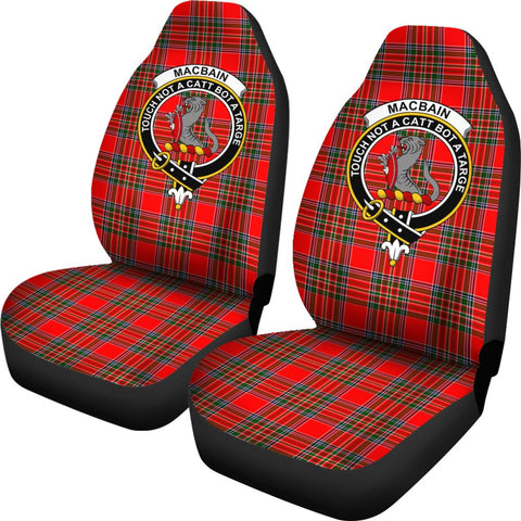 Macbain Tartan Car Seat Covers Clan Badge