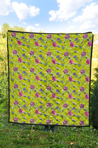 Scottish Thistle 12th Pattern Premium Quilt