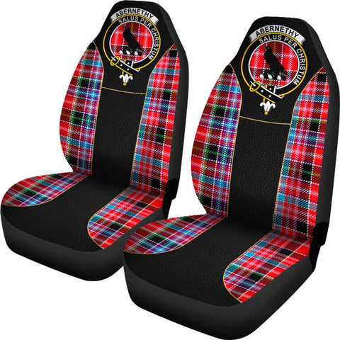 Tartan Car Seat Cover, Abernethy Clan Badge Special Version Scottish Car Seat Cover A9