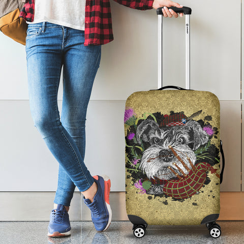 Scotland Luggage Covers - Scottish Terrier And Thistle Vintage | Love The World