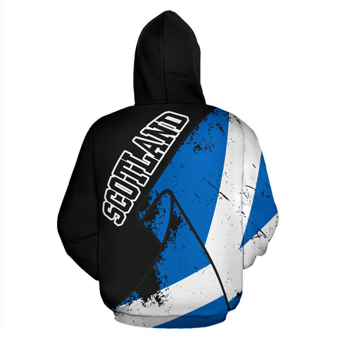 Special Grunge Flag Pullover Hoodie | Clothing | Love Scotland