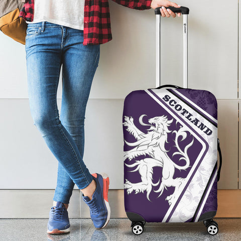 Scotland Luggage Covers - Lion Thistle Purple A24