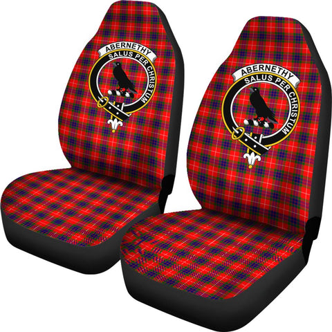 Abernethy Tartan Car Seat Covers Clan Badge