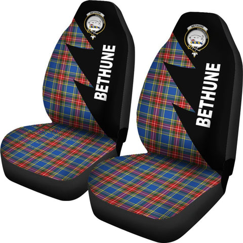 Tartan Car Seat Cover, Bethune Clans Flash Style - Scottish Car Seat Cover A9
