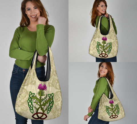Scotland Grocery Bag - Thistle Celtic Knot Beige | Love Scotland